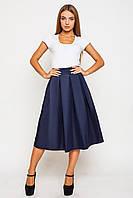 Женская юбка миди Дори темно-синяя
