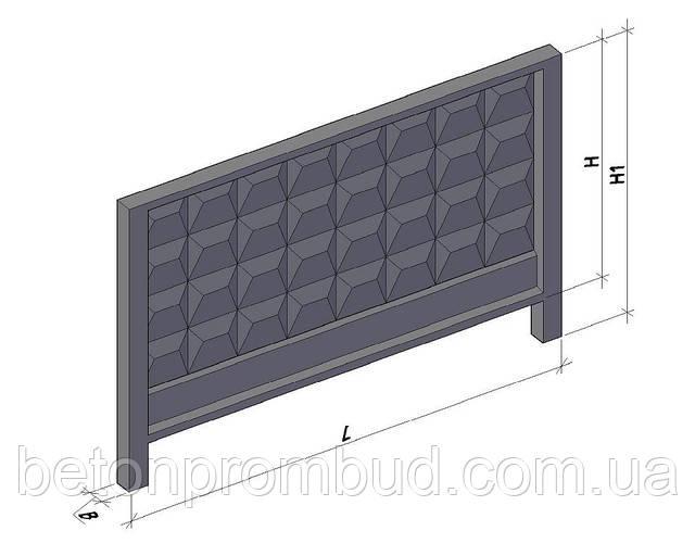 Панель ограждения ЗП400-8