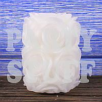 Свадебная свеча Роза белая, 8 см, фото 1