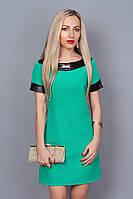 Модное платье для девушки бирюзового цвета.