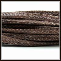 """Шнур """"Змеиная кожа"""", 6*3 мм, коричневый (20 см)"""