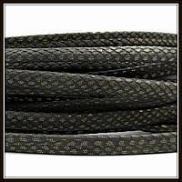 """Шнур """"Змеиная кожа"""", 6*3 мм, хаки темный (20 см)"""