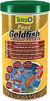 Тетра Понд Голдфиш Колор Пеллетс высококачественный корм для любых видов золотых рыбок/1л