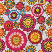 Ткань для штор и мебели круги 2
