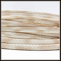 "Шнур ""Змеиная кожа"", 6*3 мм, бежевый (20 см)"
