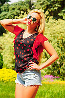Блуза с легкими струящимися рукавами, креп-шифон, шифоновая блуза