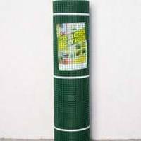 """Сетка пластиковая (""""забор"""") 13млм х 13млм 1м х 20м темно зеленая"""