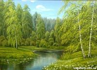 Картина пейзаж «Летняя прохлада» купить картину пейзаж маслом