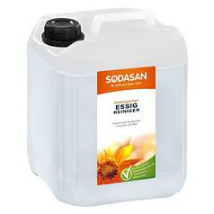 Универсальное органическое уксусное моющее средство SODASAN 5л. для удаления известкового налета, следов воды в ванной и кухне