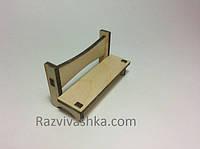 Кукольная мебель Скамейка (под роспись, декупаж), фото 1