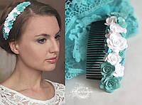 """""""Волна"""" авторский гребень для волос ручной работы. , фото 1"""