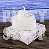 Свеча свадебная Кольца, 6 см