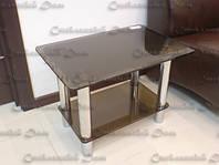 Стеклянный журнальный столик цвета Бронза