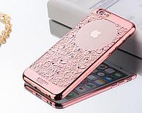 """Чехол силиконовый Beckberg Monsoon Sounds of Nature для iPhone 6/6S (4,7"""") Rose Gold"""