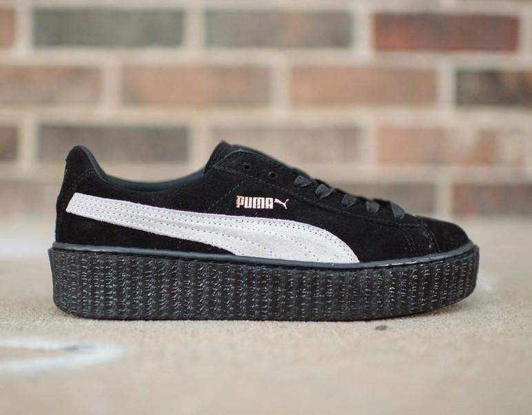 Кроссовки Puma Suede Creeper x Rihanna Black White - Интернет-магазин