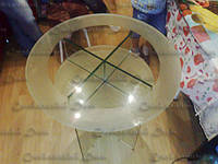 Стеклянный журнальный столик круглый