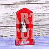 Свеча свадебная Красная 8 см х 5 см