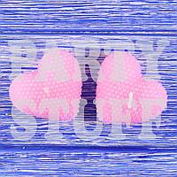 Романтические свечи сердца Розовые, 5х5 см (2 шт), фото 1