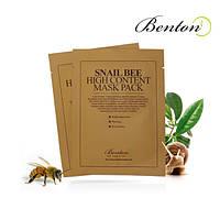 Snail Bee Hiqh Content Mask Benton - Маска с высоким содержанием муцина улитки и пчелиным ядом, 10*20 мл