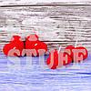 Романтические свечи сердца Красные, 5х5 см (2 шт)