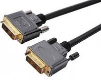 5-0571. Шнур DVI(24+1) шт.-шт., Hi-Fi, метал. с фильт.в блистере gold 3м.