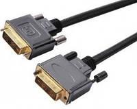 5-0573. Шнур DVI(24+1) шт.-шт., Hi-Fi, метал. с фильт.в блистере gold 8м.