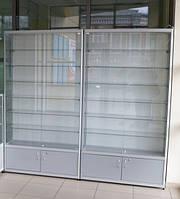 Торговая витрина, стеклянная б/у 50х100х220 см