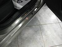 Накладки на пороги из н/с Skoda Octavia A7