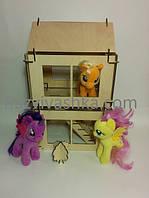 Двухэтажный кукольный домик-конструктор (конcтруктор из дерева)  , фото 1