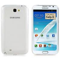 Чехол силиконовый Ультратонкий Epik для Samsung Galaxy Note 2 N7100 Прозрачный