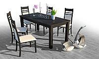 Кухонний,обідній стіл Гранте ТМ Грамма с дубу 80х120(160)