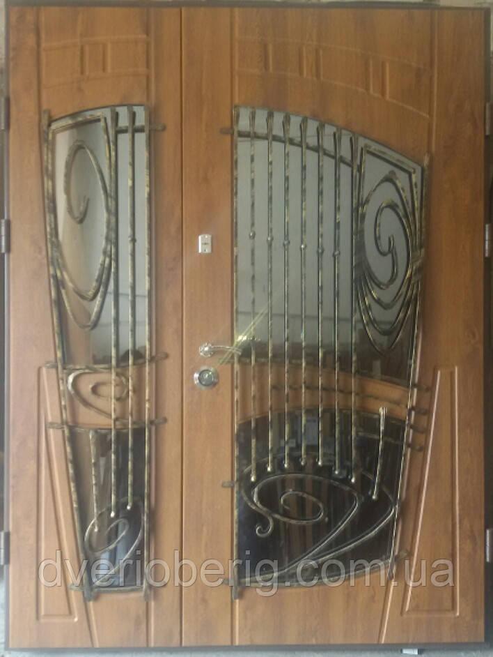 Входная дверь модель 1500мм 594 vinorit-90 КОВКИ