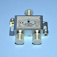 Сплитер TV 2-way HQ 5-2450MHz с прохождением питания Cabletech  ZLA0635PP