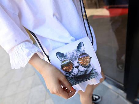 Сумка клатч-сундучок с принтом, фото 2