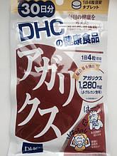 Агарик гриб. Укрепление иммунитета, онкопротекторный эффект (Курс на 30 дней) DHC, Япония