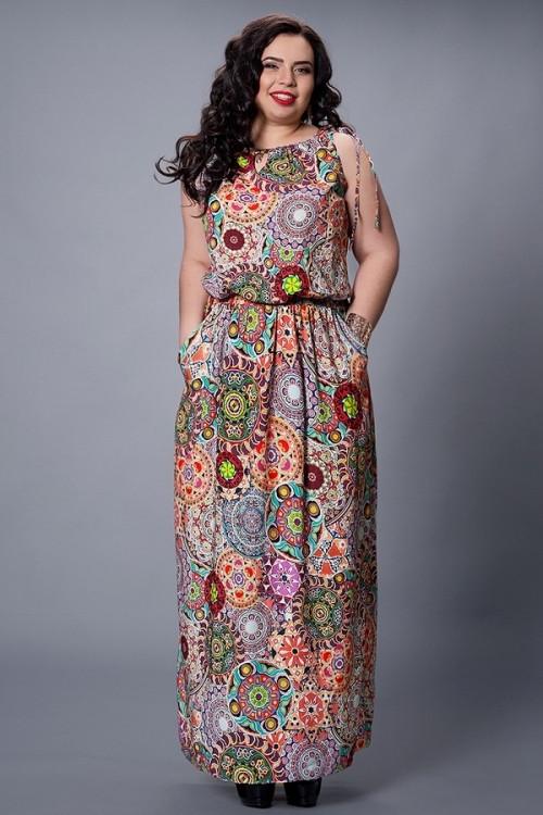 768ebb3d2ed Модное летнее платье из штапеля с резинкой на талии от оптово ...