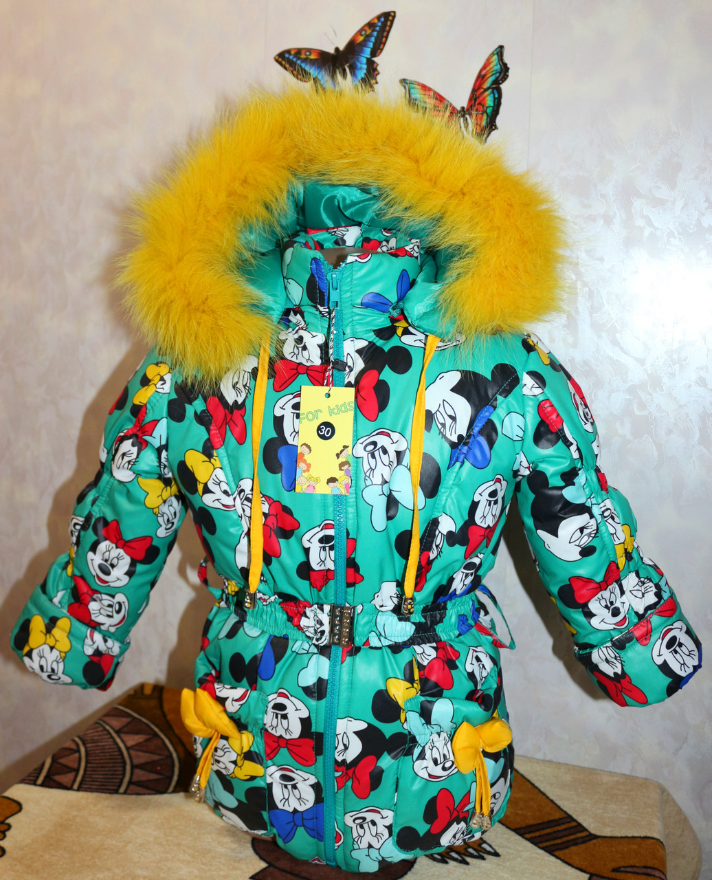 Зимний комбинезон +куртка 34 размер натуральная опушка