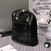 Изящная сумка - рюкзак, трансформер, фото 3