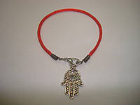 Красная нить с оберегом «Хамса, Рука Фатимы», фото 1