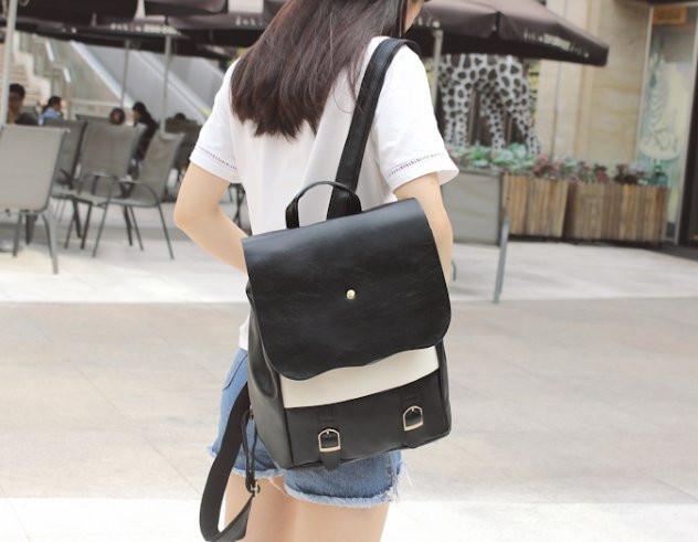 Оригинальный женский рюкзак со вставкой!