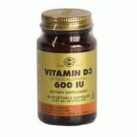БАД Витамин Д3 600 МЕ- 150% суточной потребности в витамине D 3 (Солгар)