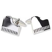Запонки Bow Tie House в виде серебряного фортепиано 07945