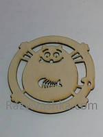 """Подставки под чашку, стакан """"Кот да Винчи""""  диаметр 100 мм"""
