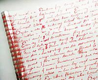 Пленка прозрачная Английское письмо красная 60 см 400 гр