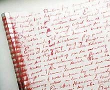 Плівка прозора Англійське лист червона 60 см 400 гр