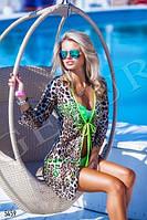 Пляжная накидка леопард