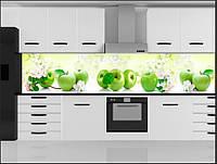 Стеклянный фартук для кухни - скинали Яблоки