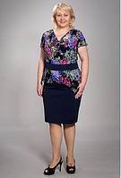 """Нарядное женское платье """"Амаретта"""" большого размера"""