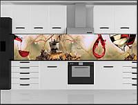 Стеклянный фартук для кухни - скинали Вино Шоколад Кофе, фото 1