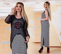 Женское длинное платье ДГр7600